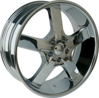 20 Wheels Rims Package Free Tires U2 55 Triple Chrome Deep Lip 5x139