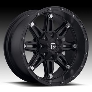 18 FUEL HOSTAGE BLACK RIMS & 285 65 18 NITTO TERRA GRAPPLER AT TIRES