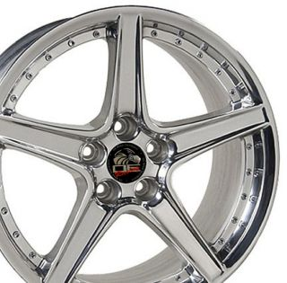 18x10 Polished Saleen Wheels Rims Fit Mustang® Rear Rims
