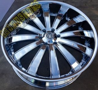 22 inch Versante Rims Wheels Tires VW225 22x8 Chrome Impala 2004 2005