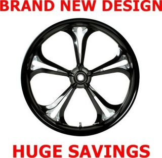 Baja Black Contrast Cut 21 Wheel Tires Package Set 4 Harley FLHT FLHX