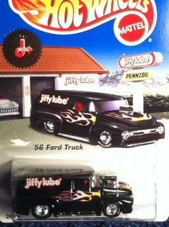 Hot Wheels Jiffy Lube 1956 Ford Truck w Real Rider Tires Liberty