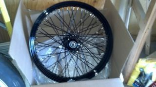 Custom Wheels Rims 23 Black 60 Spoke Harley Davidson