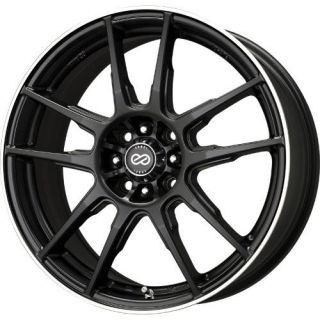17 Enkei FLC01 Black Rims Wheels Civic Eclipse XB STI