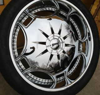 28 28 inch Dub Ganja Used Rims Wheels and Tires 5x5 5 5x139 Bolt