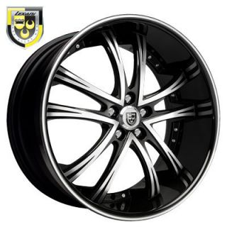 Wheels LSS 55 Black Rims Tires Escalade Navigator Yukon 22 24 30 28