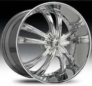 28 Lexani LSS 55 Wheel Set Chrome Lexani Rims 28x10 LSS55 6LUG 5LUG