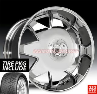 28 inch Wheels Lexani LX2 Rims and Tire Pkg Sale 6LUG Chr