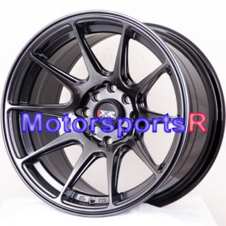 XXR 527 Chromium Black Concave Wheels Rims Stance 4x100 4x114 3 ET 0