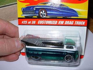 Hot Wheels Classics Customized VW Drag Truck Green Series 2 # 25 Of 30