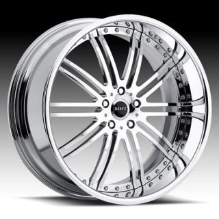 20 MHT Vendetta Chrome Rims Wheels BMW 528 530 540 M5
