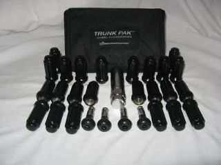 24 Black Lug Nuts Chevy Tahoe 16 17 20 22 Wheels Rims
