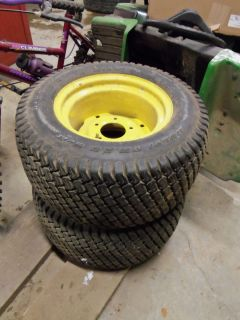 John Deere 425 Rear Wheels and Turf Tires 23x10 50 12