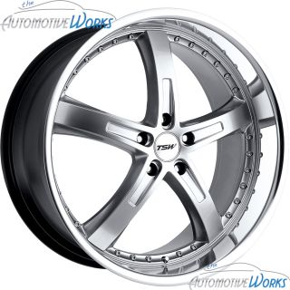 TSW Jarama 5x108 5x4 25 40mm Hyper Silver Mirror Rims Wheels Inch 18