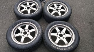 Genuine Rays Volk TE37 15 Wheels Track Tyres Integra Civic Type R DC2