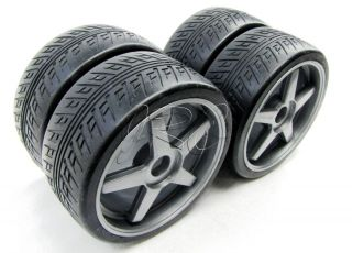 Inferno GT2 RTR TIRES & SILVER WHEELS/Rims (factory pre glued KYO31816