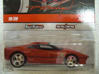 hot wheels garage series ferrari 288 gto #19/39 real riders $11 max