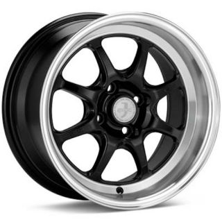 15 Enkei Black J Speed Classic Wheel Rim 15 x 7 38mm 4x100
