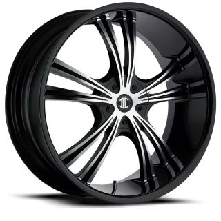 16 inch 2CRAVE NO2 Black Wheels Rims 5x110 Catera Cobalt HHR Malibu G5