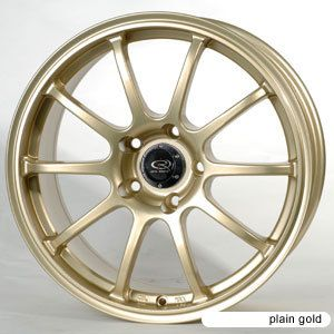 17 Rota G Force Gold Rims Wheels Tires WRX Impreza STI
