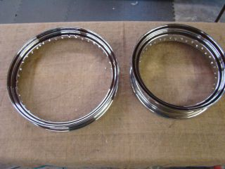 02305 Chrome 40 Spoke Wheel Rims Indian Harley Sportster Scout FXR 19