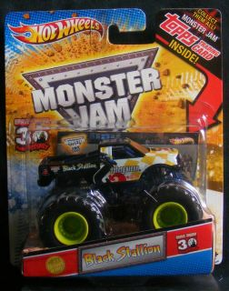 BLACK STALLION Monster Jam With Topps Trading Card 2012 Hot Wheels