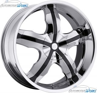 Platinum 212 Widow 5x120 5x114 3 5x4 5 42mm Chrome Wheels Rims Inch 20