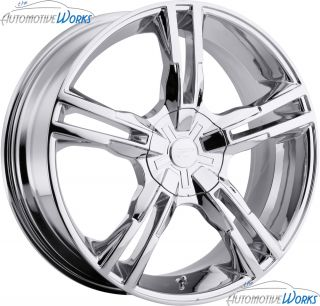 Platinum 292 Saber 5x110 5x115 42mm Chrome Wheels Rims inch 18