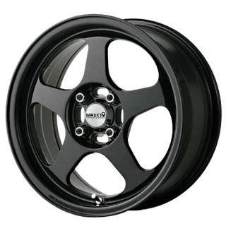 15x6 5 Maxxim Air Wheel 4x100mm ET38 Rim Matte Black