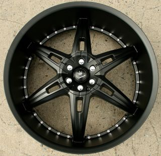 Verde Allusion 24 Semi Black Rims Wheels Dodge Magnum RT Base 24 x 9