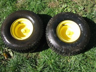 John Deere STX38 Lawn Tractor Rear Tires and Rims