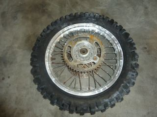 RM85 YZ RM 85 80 Rear Wheel Rim Hub Tire Rotor Sprocket 14