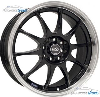 Enkei J10 4x100 4x114 3 4x4 5 42mm Matte Black Machined Rims Wheels 18
