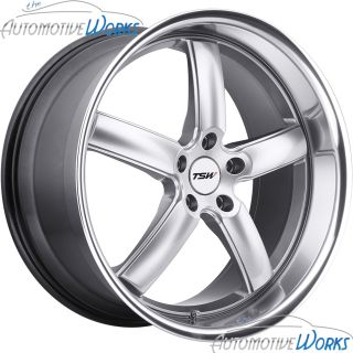 TSW Stowe 5x114 3 5x4 5 40mm Hyper Silver Mirror Rims Wheels Inch 18