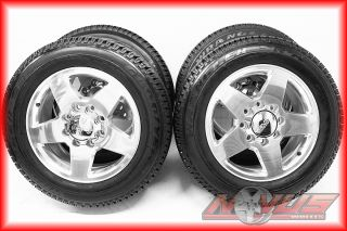 SILVERADO GMC SIERRA DENALI 2500 HD POLISHED OEM WHEELS TIRES 18 2011