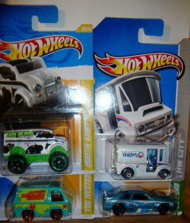HOT WHEELS 2013 BREAD BOX 2012 HUNT FORD MUSTANG SCOOBY DOO MONSTER