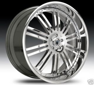 AF128 AF 128 Chrome Multi 2 Piece Rims Wheels Tires Package