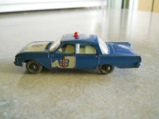 Matchbox Lesney 55 Ford Fairlane Police Car Silver Wheels