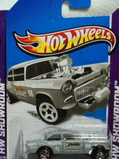 Hot Wheels 2013 Asphalt Assault Series Primer Grey '55 Chevy Bel Air