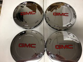 Escalade Chrome Center Caps Hub Covers 22 inch Wheels Rims GMC Yukon