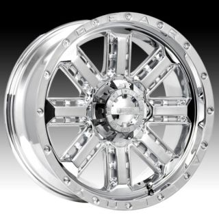 20 Wheels Rims Gear Alloy Nitro Chrome with 35x12 50x20 Federal