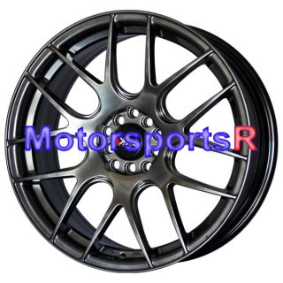 530 Chromium Black Concave Wheels Rims 5x100 5x114 3 5x4 5 Kia Forte
