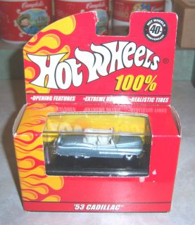 100% Hot Wheels   53 Cadillac   40th Anniversary   Limited Edition