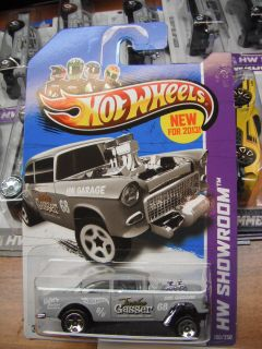 2013 Hot Wheels 55 Chevy Bel Air Gasser 190 250 HW Showroom