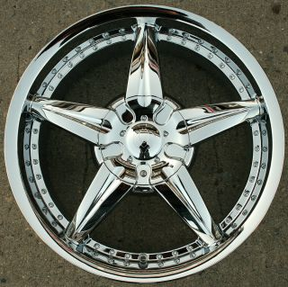 Milano 718 20 Chrome Rims Wheels Infiniti QX56 04 Up 20 x 8 5 6H 35