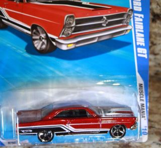Hot Wheels 2010 66 Ford Fairlane GT Muscle Mania MOC
