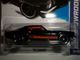 Hot Wheels 70 Camaro Black Paint HW Showroom 221 250