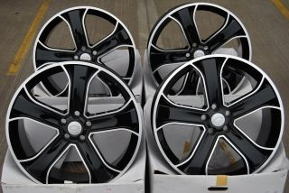 22 Black 5 Spoke Alloy Wheels Fit BMW x5 E70 X70 Models