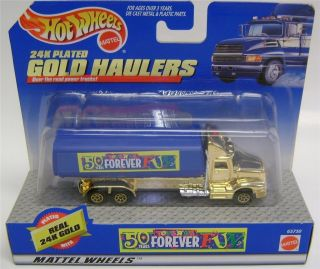 24K Plated Gold Haulers Red Hot Wheels Diecast 1 64