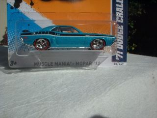 Hot Wheels 2012 71 Dodge Challenger Custom Super Treasure Hunt Wheels